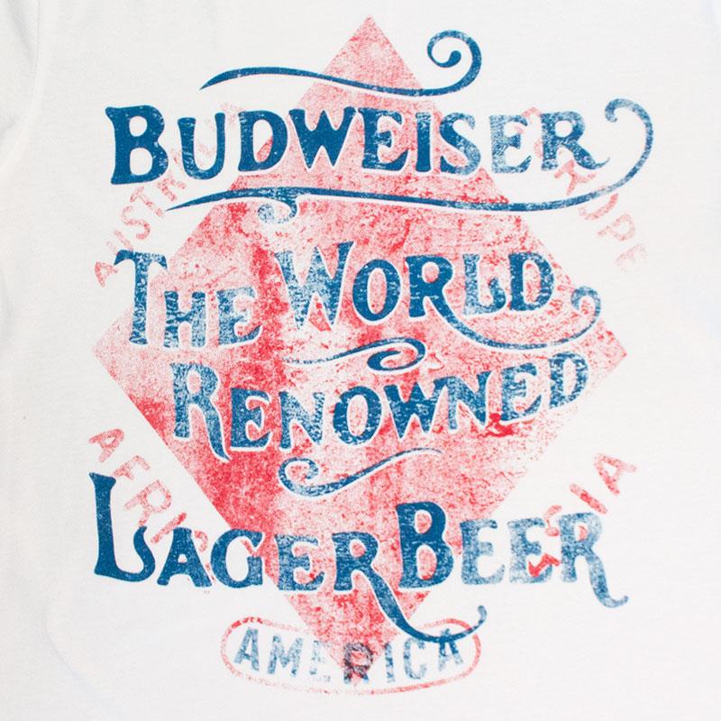 Budweiser Retro World Renowned Lager Tee Shirt