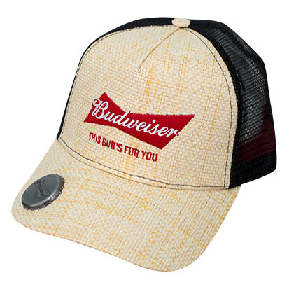 Budweiser Straw Bottle Opener Adjustable Hat