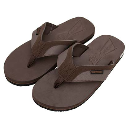 Budweiser Men's Brown Flip Flops