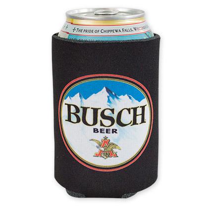 Busch Black Beer Logo Koozie