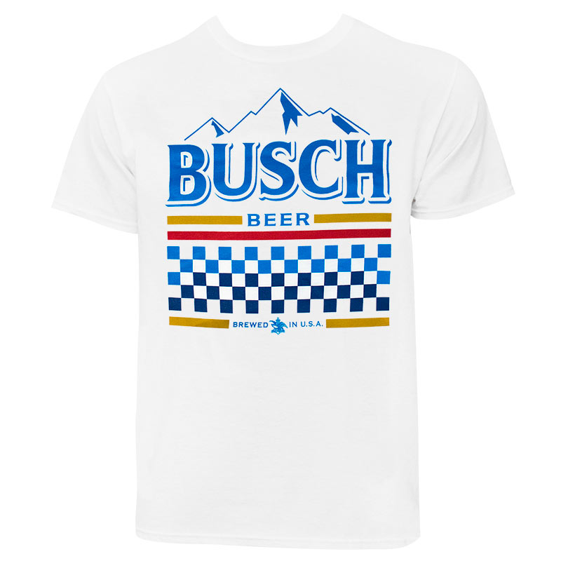 6cfad503 Busch White Racing Tee Shirt