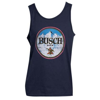 Men's Busch Beer Blue Tank Top