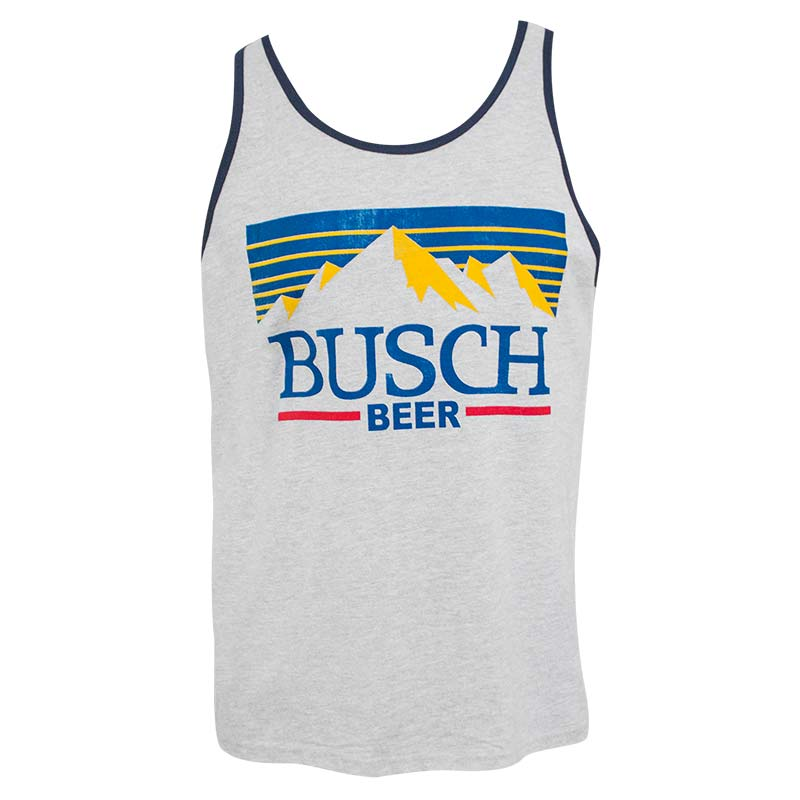 6a3468e1 Busch Men's Grey Mountain Logo Tank Top