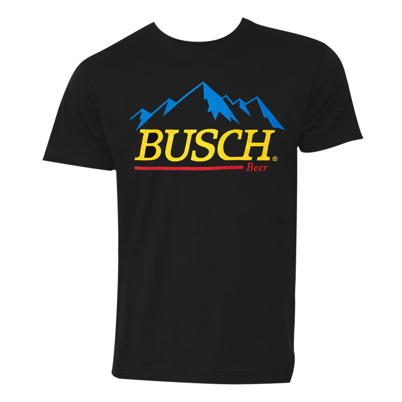 Busch Beer Men's Black Gold Logo T-Shirt