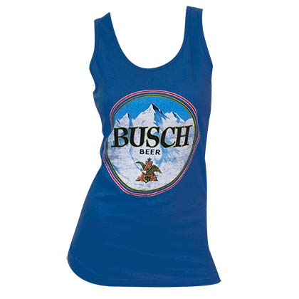 Women's Busch Beer Blue Tank Top