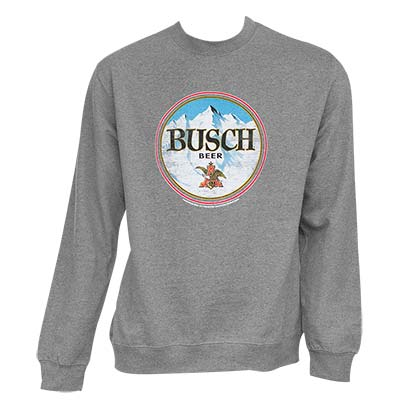 Busch Men's Grey Crewneck Sweatshirt