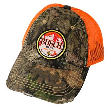 Busch Beer Hunter Orange Trucker Hat