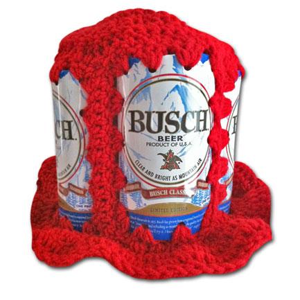 Busch Handmade Crochet Beer Can Hat - (FREE SHIPPING)