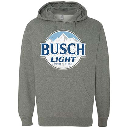 Busch Light Classic Logo Grey Hoodie