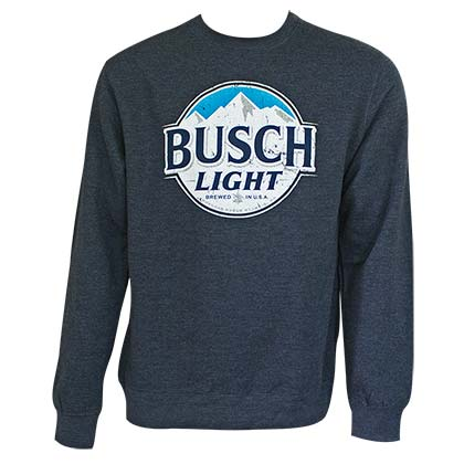 Busch Light Men's Navy Blue Crewneck Sweatshirt