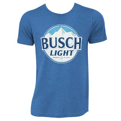 Busch Light Men's Heather Blue Round Logo T-Shirt