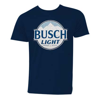 Busch Light Logo Men's Navy Blue Tee Shirt