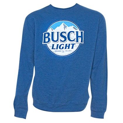 Busch Light Logo Royal Blue Crewneck Sweatshirt