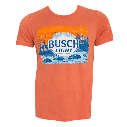 Busch Light Heather Orange Tee Shirt