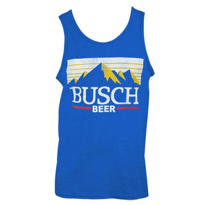 Busch Beer Mountain LogoMen's Blue Tank Top