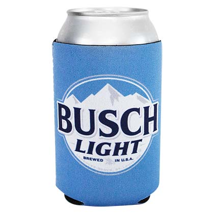 Busch Light New Logo Neoprene Blue Can Cooler