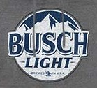 Busch Light Men's Dark Grey Beer Pouch Bottle Label Hoodie