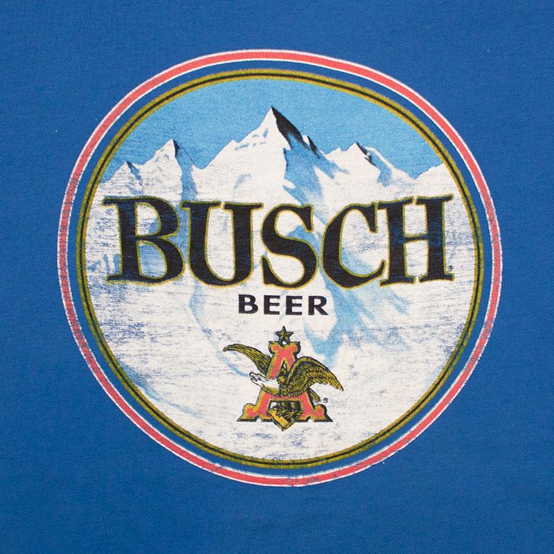 busch beer retro circle logo tshirt