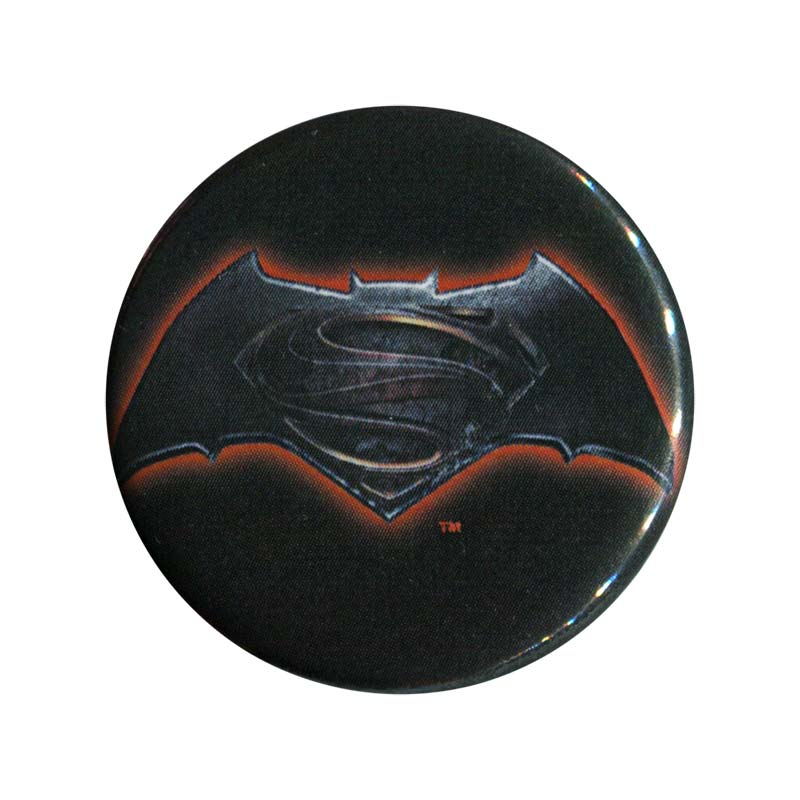 Batman V Superman Comic Dawn Of Justice Logo Button