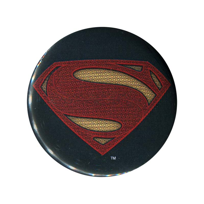 Batman V Superman Superman Logo Button SuperheroDencom