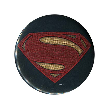Batman V Superman Comic Superman Logo Button