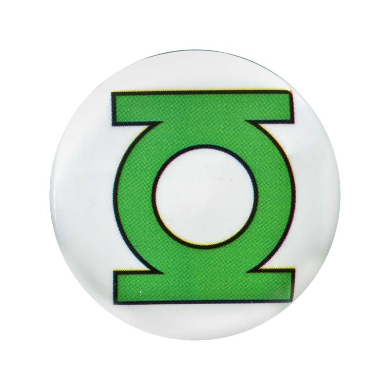 Green Lantern Comic Logo Button