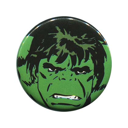 Hulk Comic Face Button