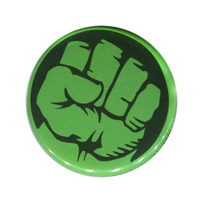 Hulk Comic Fist Button