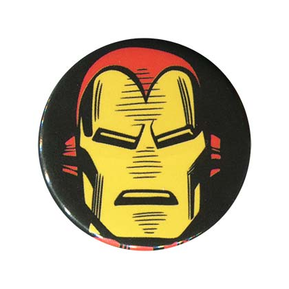 Iron Man Comic Face Button
