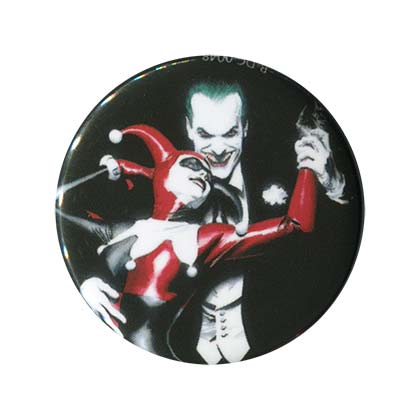 Harley Quinn & Joker Comic Button