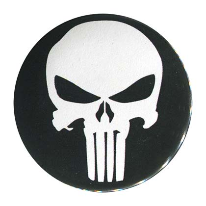 Punisher Comic Button