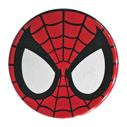 Spiderman Comic Mask Button