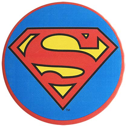Superman Comic 3 inch Logo Button