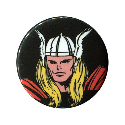 Thor Comic Face Button