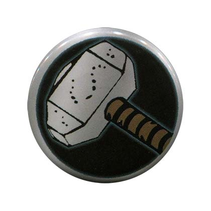Thor Comic Hammer Button