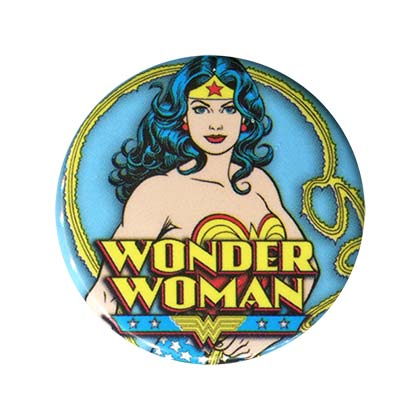 Wonder Woman Comic Blue Button