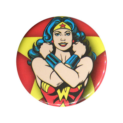 Wonder Woman Comic Power Bracelets Red Button