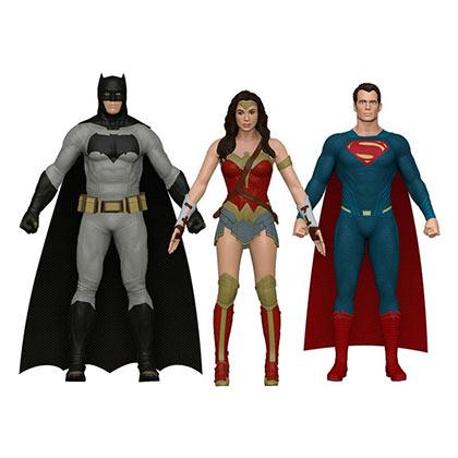 Batman V Superman & Wonder Woman Bendable 3 Piece Toy Set