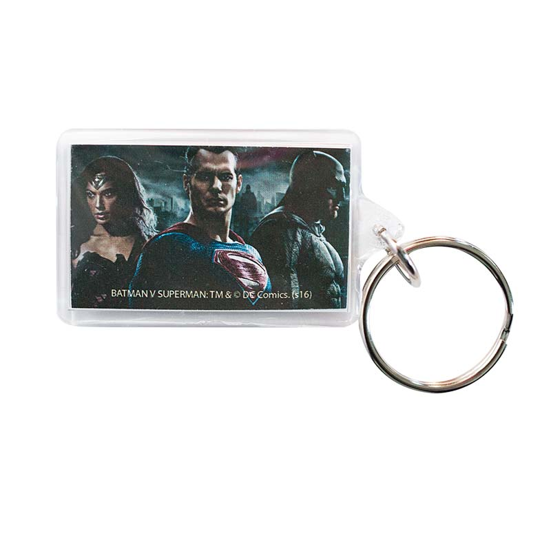 Batman V Superman & Wonder Woman Charactors Lucite Keychain