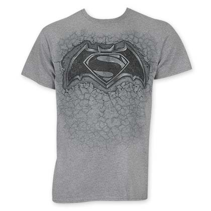Batman V Superman Gray Stone Logo T-Shirt