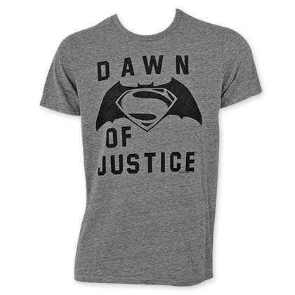 Junk Food Men's Grey Batman V Superman Dawn Of Justice T-Shirt
