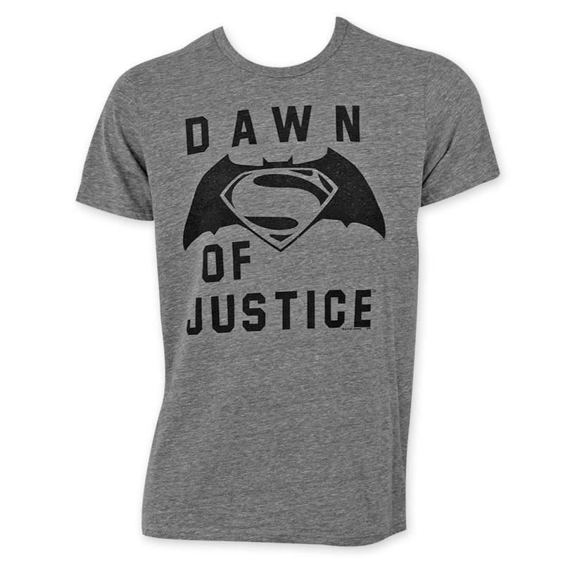 Junk Food Men's Grey Batman V Superman Dawn Of Justice T-Shirt
