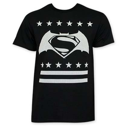 Batman V Superman Black White Dot Logo T-Shirt