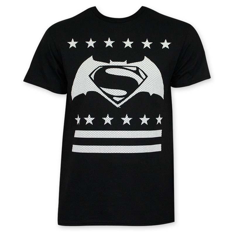 Batman V Superman White Dot Logo Tee Shirt
