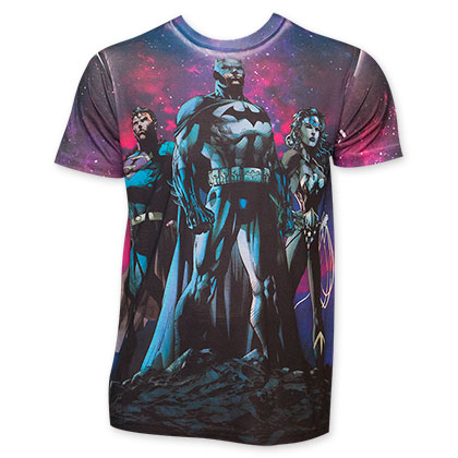 Batman V Superman Men's Sublimated Purple T-Shirt