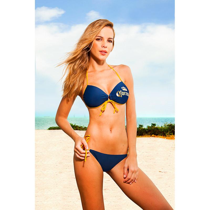 Corona Extra Push Up Sweet Heart Bandeau String Bottom Bikini
