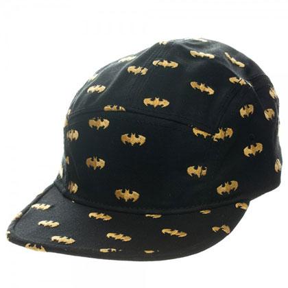Batman 5 Panel Black Camper Hat
