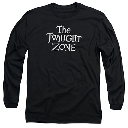Twilight Zone Logo Black Long Sleeve T-Shirt
