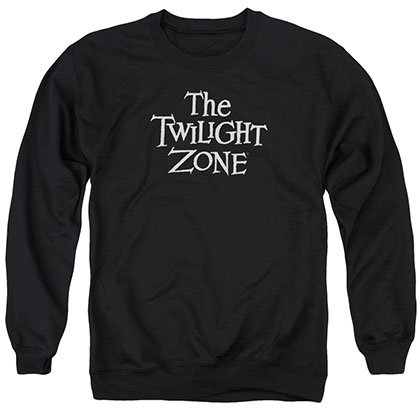 Twilight Zone Logo Black Crew Neck Sweatshirt