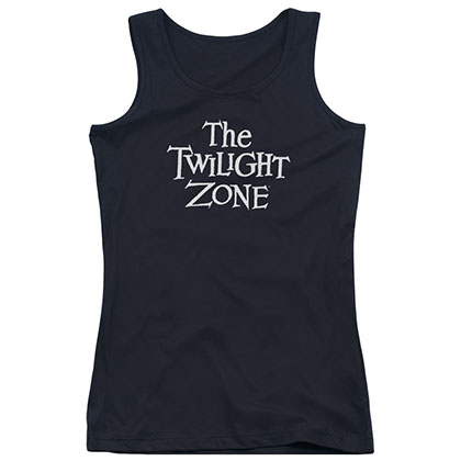 Twilight Zone Logo Black Juniors Tank Top